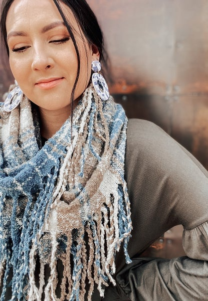 (4 colors!) Soft Casual Plaid Infinity Scarf