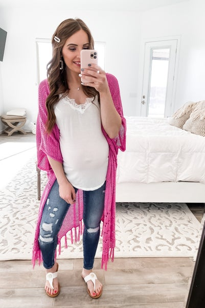 (S-3X and 5 colors) Light Knit Long Body Open Cardigan