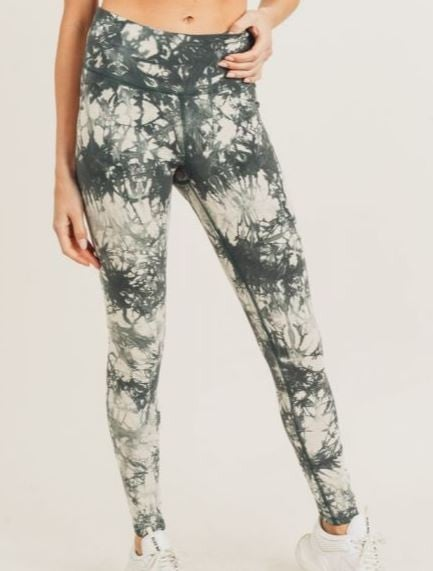 Tie-Dye Cotton Highwaist Leggings