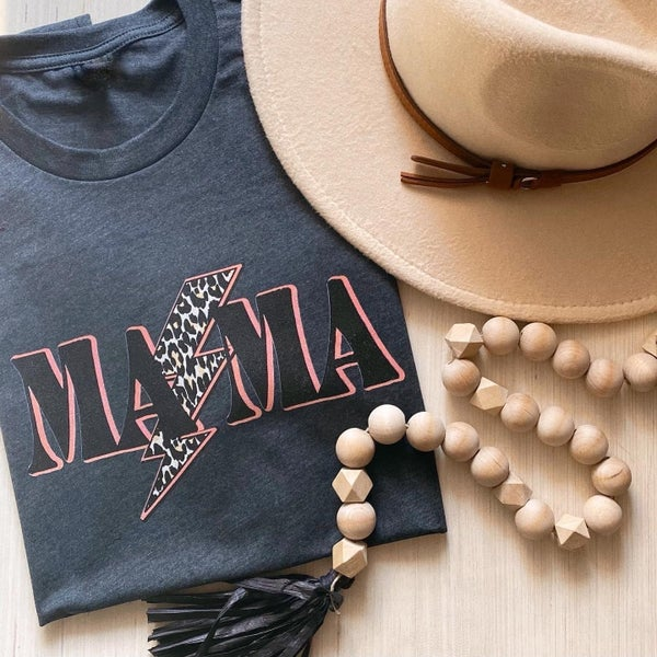 (S-3X) MAMA leopard lightning PRE-ORDER Graphic Tee