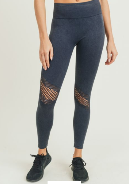 Perforated Mineral Wash Seamless Highwaist Leggings