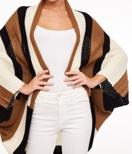 You Are A Block Star Sweater Poncho