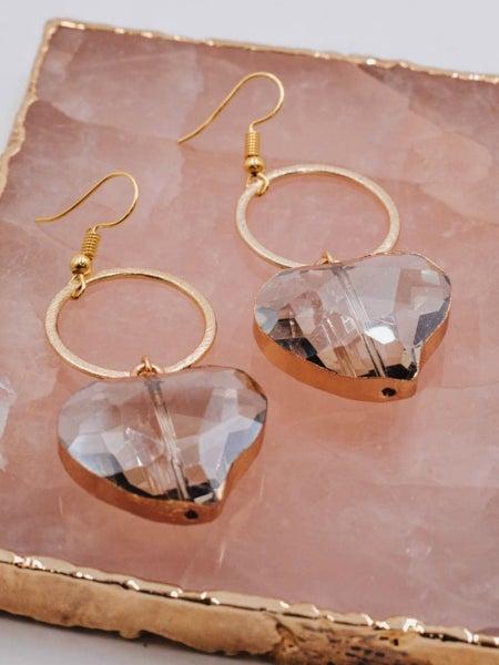 Gorgeous Gem Heart Earrings
