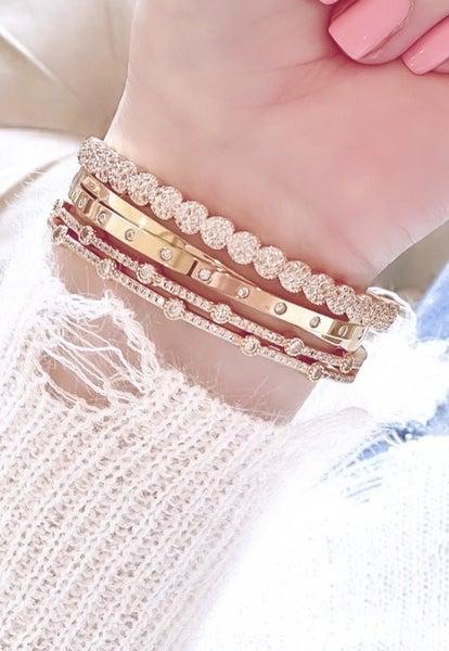 Double Band Sparkle Bracelet