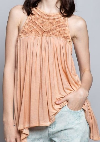 POL Forever Hopeful Knit Top Flowy Tank