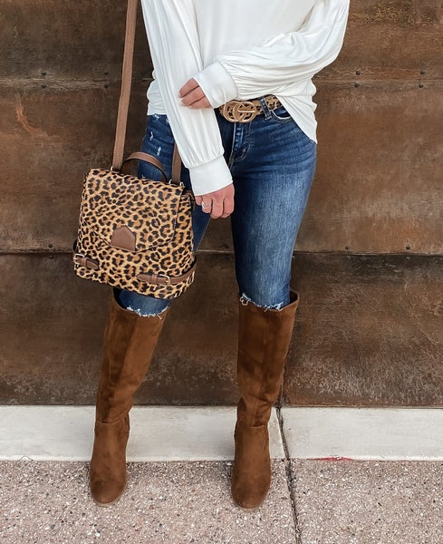 Convertible Leopard Crossbody/Backpack/handbag