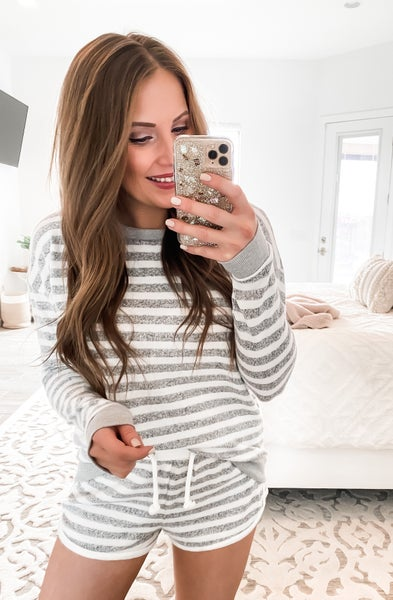 Secret Keeper Softest Stripe Long Sleeve Top