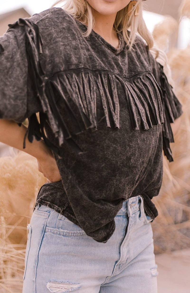 (3 colors!) Bohemian Babe Fringe Top