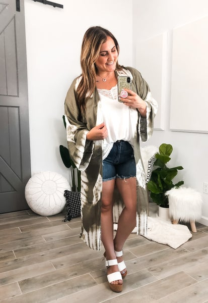 0-22 Size and 4 colors! Krush FAVORITE Tie Dye Print Kimono