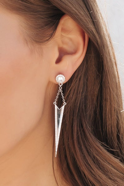 Gorgeous Spiked Earring with Swarovski Crystals