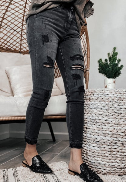 Secret Brand: She's a Star Print Edgy Distressed Jeans