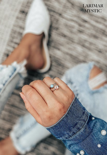 (8 stone options!) Dainty Stone Stacker Ring