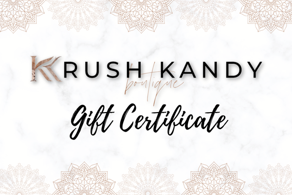 Krush Kandy Gift Certificate