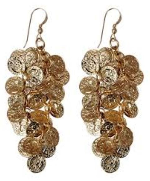 Dangle Coin Earring