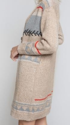 POL Long  Cardigan With Button Detail