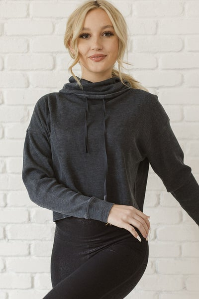 (3 Colors) Mono B: Get It Done Cowl Neck Pullover