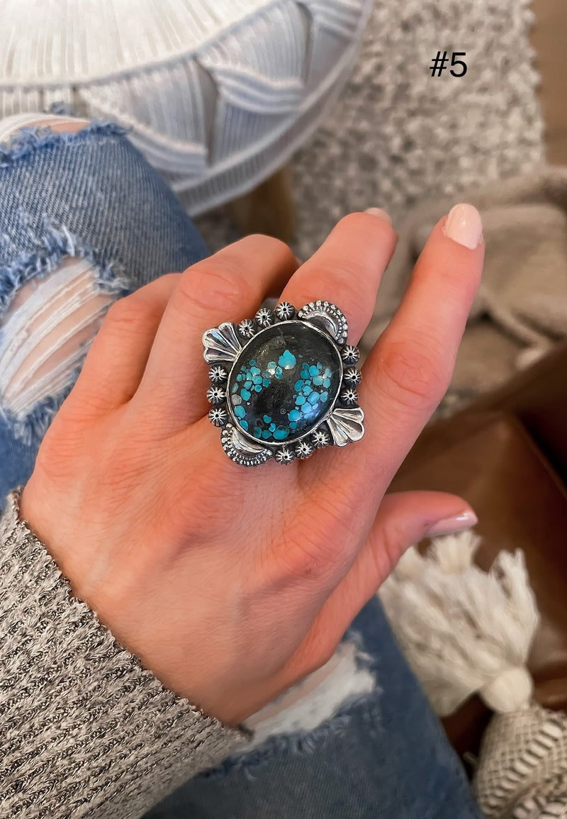 (7 different designs!) Krush Kandy EXCLUSIVE Turquoise Rings