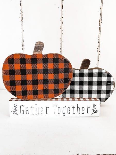 Gather Together Plaid Mini Sitter
