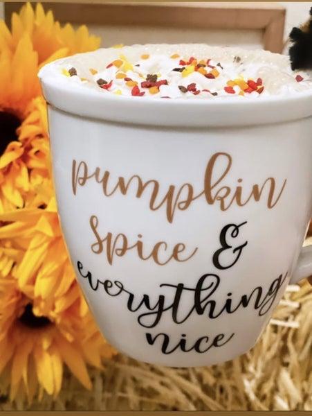 Pumpkin Spice and Everything Nice Porcelain Mug