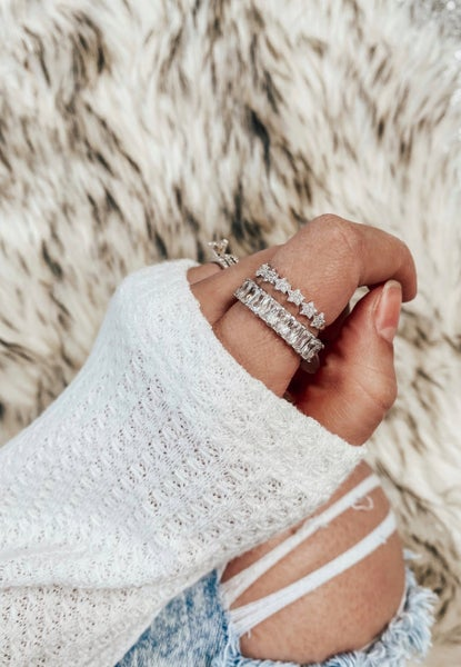 Around the Word Sterling Silver Infinity Ring
