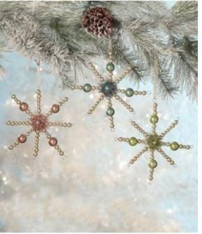 Pastel Starburst Ornaments (Set of 3)