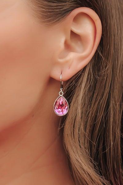 (7 colors) Teardrop Earrings Made With Swarovski