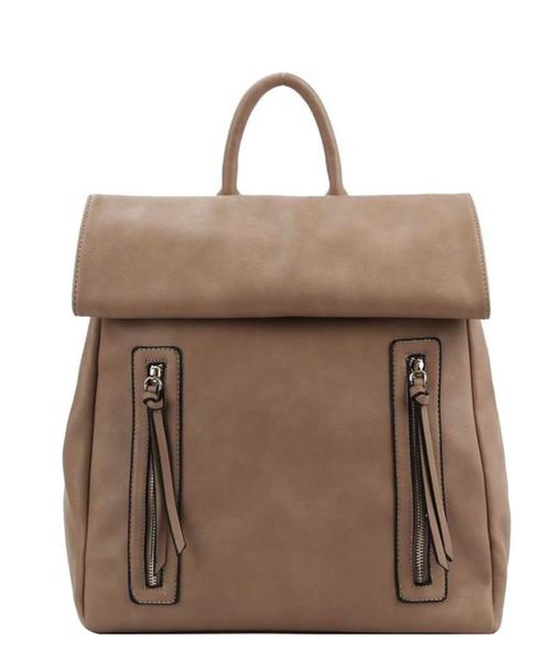 Too Chic Zipper Backpack