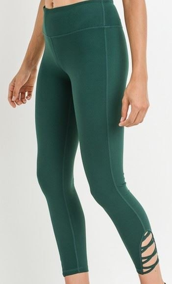 (S-3X, 5 colors!) Push Yo-self Lattice Strap Full Leggings