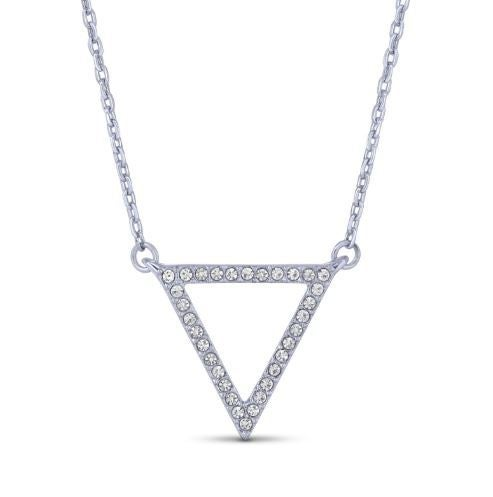 Triangle Swarovski Necklace