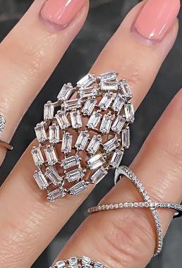 Eye Baguette Sterling Silver Ring