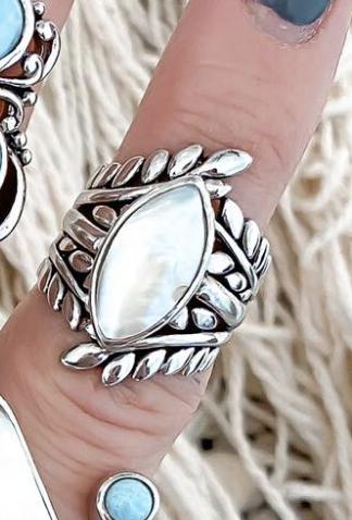 Greek Goddess Sterling Silver Ring