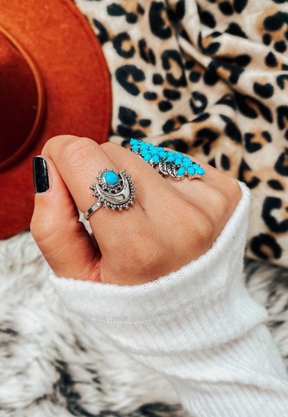 Silver Moon Turquoise Ring