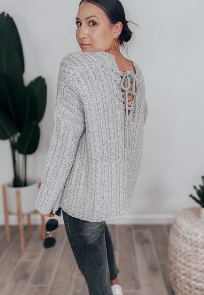 (2 colors) POL Braided Cable Knit Crisscross Sweater