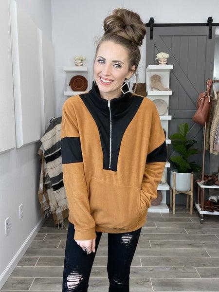(S & M left!) Quarter Zip Sweater