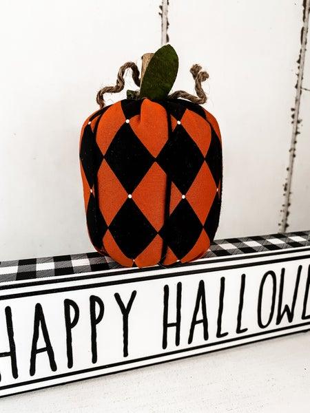 Small Harlequin Fabric Pumpkin
