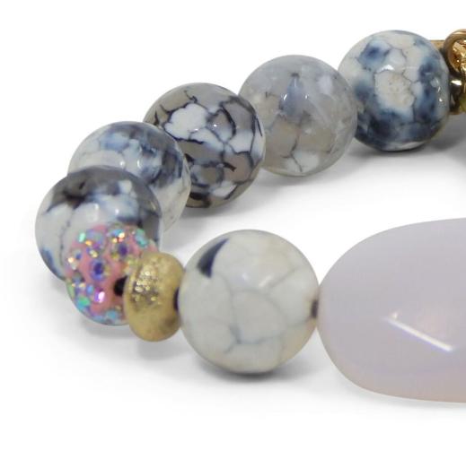 Erimish Pink Stone Bracelet