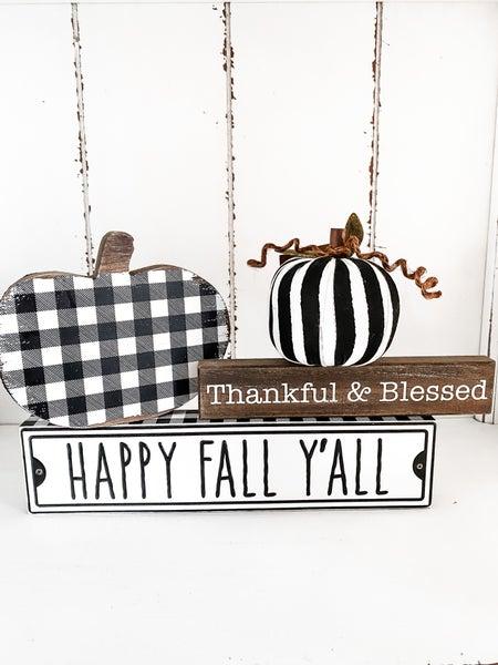 Happy Fall Y'All Box Sign