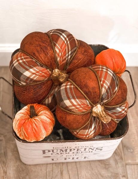 Plaid Rustic Pumpkin