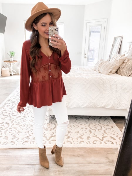 (3 colors!) Bonnet Babe Lacey Top