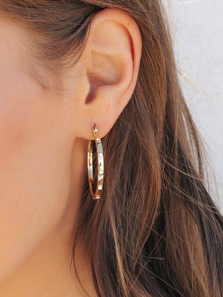 (3 Colors) Swarovski Crystal Hoop Earrings