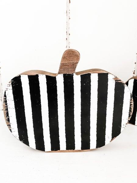Striped Wood Pumpkin