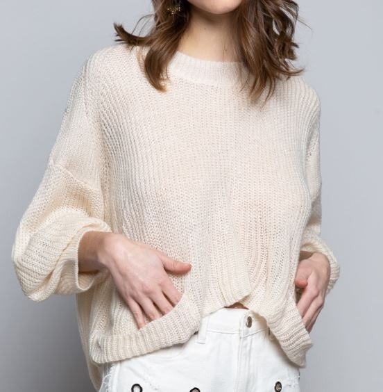 (1 S left!) POL Basic and Simple Sweater