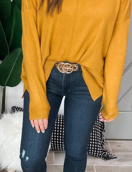 Faux Leather Animal Print Belt
