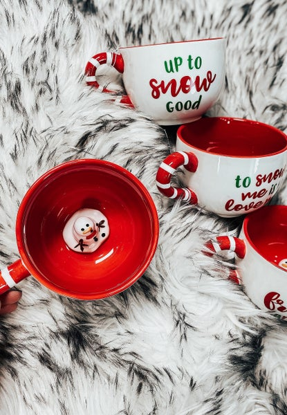 (4 Options!) Melting Snowman Cute Mugs