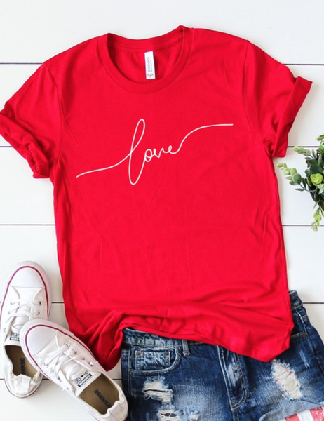 S-3X PRE ORDER Dainty Love Graphic Tee