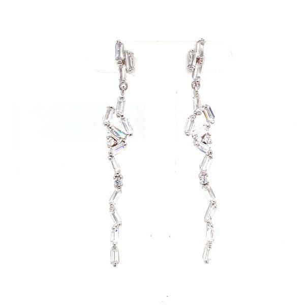 Fancy Baguette Icicle Earrings