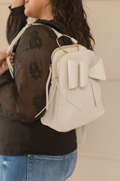 (3 Colors) Something More Mini Bow Backpack
