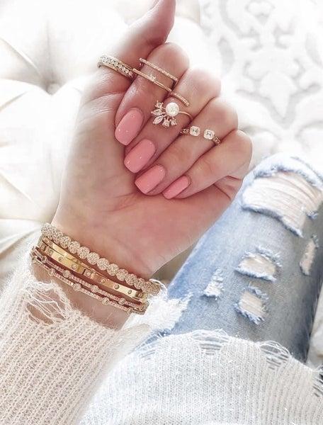 Overlap CZ Bling Bracelet