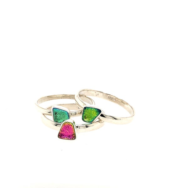 (multiple colors) Dichroic Glass Ring