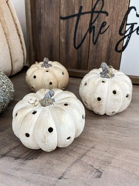 (3 in a set!) Vintage Luminary pumpkins